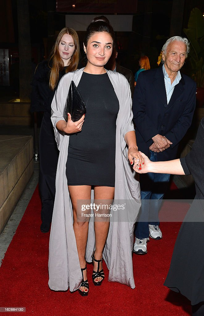 Actress Fadik Sevin Atasoy arrives at the 2013 Los Angeles Turkish Film Festival Opening Night Premiere Of 'The Butterfly's Dream'at the Egyptian Theatre on February 28, 2013 in Hollywood, California.