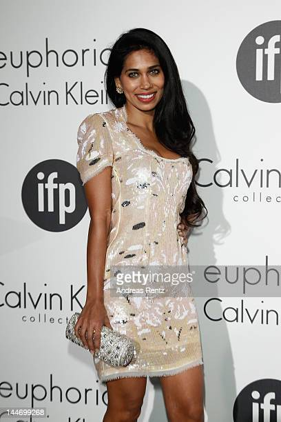 Actress Fagun Thakrar attends Women In Film celebration with IFP Calvin Klein Collection euphoria Calvin Klein at the 65th Cannes Film Festival at...
