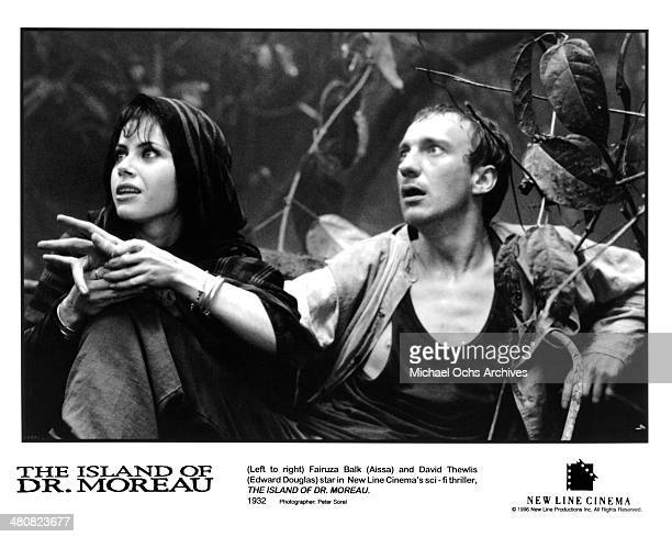Actress Fairuza Balk and actor David Thewlis in a scene from the New Line Cinema movie 'The Island of Dr Moreau' circa 1996