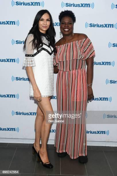 Actress Famke Janssen and comedian Leslie Jones visit at SiriusXM Studios on June 12 2017 in New York City
