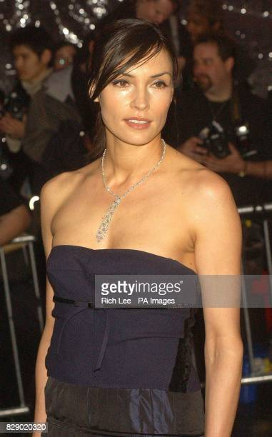 Actress Famke Janssen arrives for the Costume Institute Gala celebrating Dangerous Liasons Fashion Furniture in the 18th Century at the Metropolitan...