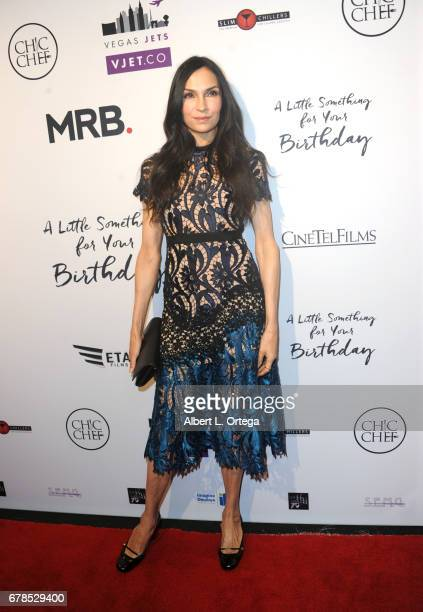 Actress Famke Janssen arrives for the Premiere Of Penny Black Promotions' 'A Little Something For Your Birthday' held at Pacific Design Center on May...