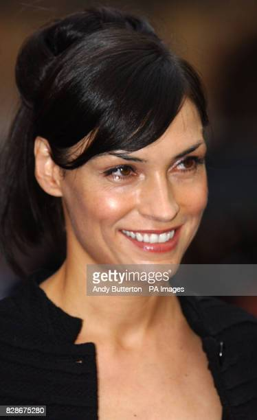 Actress Famke Janssen arriving at the Odeon West End London for the UK premiere of XMen 2