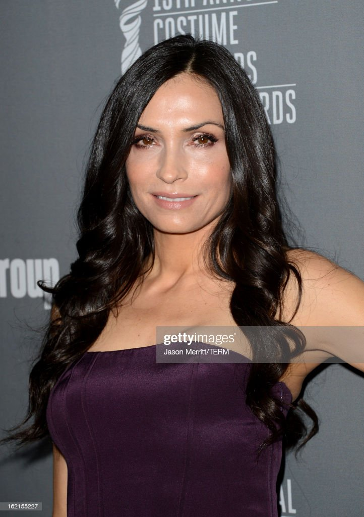 Actress Famke Janssen attends the 15th Annual Costume Designers Guild Awards with presenting sponsor Lacoste at The Beverly Hilton Hotel on February 19, 2013 in Beverly Hills, California.