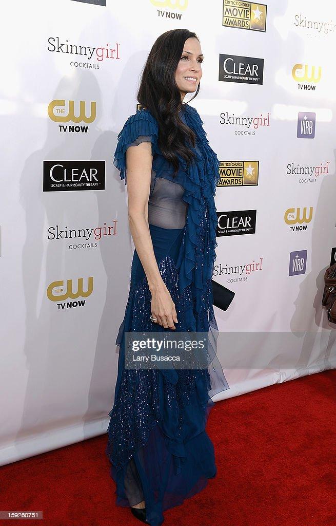 Actress Famke Janssen attends the 18th Annual Critics' Choice Movie Awards held at Barker Hangar on January 10, 2013 in Santa Monica, California.