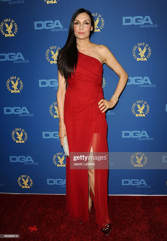 Actress Famke Janssen attends the 65th annual Directors Guild Of America Awards at The Ray Dolby Ballroom at Hollywood & Highland Center on February 2, 2013 in Hollywood, California.