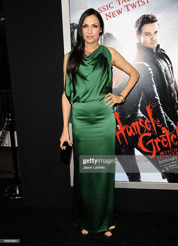 Actress Famke Janssen attends the premiere of 'Hansel & Gretel: Witch Hunters' at TCL Chinese Theatre on January 24, 2013 in Hollywood, California.