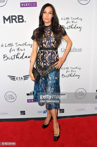 Actress Famke Janssen attends the premiere of Penny Black Promotions' 'A Little Something For Your Birthday' at Pacific Design Center on May 3 2017...