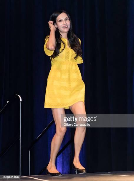 Actress Famke Janssen attends Wizard World Comic Con Philadelphia 2017 Day 4 at Pennsylvania Convention Center on June 4 2017 in Philadelphia...