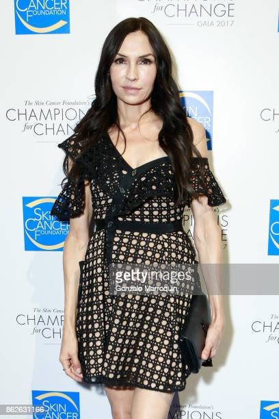 Actress Famke Janssen during the Skin Cancer Foundation's Champions for Change Gala at Cipriani 25 Broadway on October 17 2017 in New York City