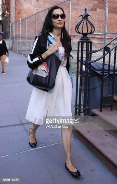 Actress Famke Janssen is seen on October 2 2017 in New York City