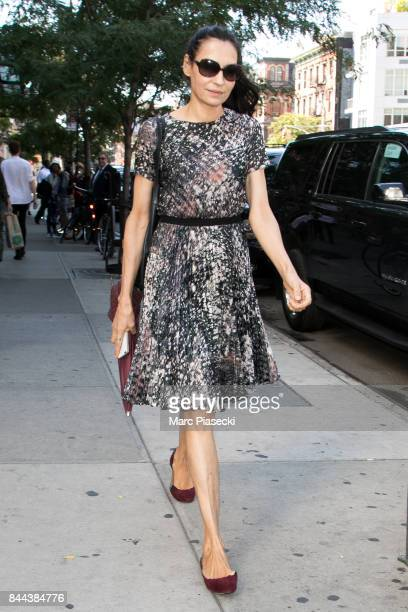 Actress Famke Janssen is seen on September 8 2017 in New York City