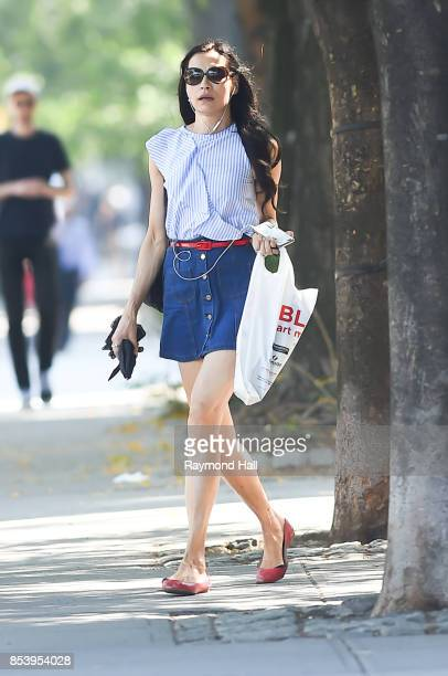 Actress Famke Janssen is seen walking in soho on September 25 2017 in New York City