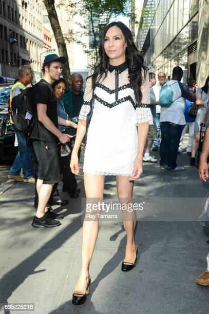 Actress Famke Janssen leaves the 'Today Show' taping at the NBC Rockefeller Center Studios on June 12 2017 in New York City