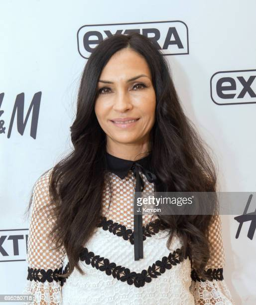 Actress Famke Janssen visits Extra Studios at HM Times Square on June 12 2017 in New York City