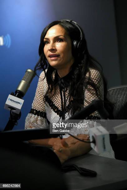 Actress Famke Janssen visits 'The Morning Mash Up' on SiriusXM Hits 1 Channel at SiriusXM Studios on June 12 2017 in New York City