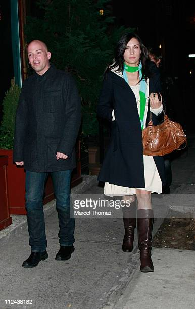 Actress Famke Janssen visits the 'Ye Waverly Inn' restaurant on March 21 2008 in New York City