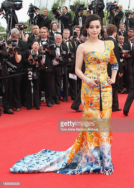 Actress Fan Bing Bing attends the Opening Night Premiere of 'Robin Hood' at the Palais des Festivals during the 63rd Annual International Cannes Film...