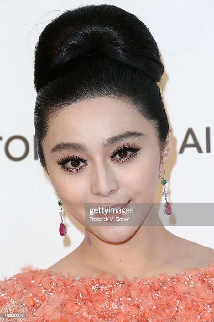 Actress Fan Bingbing arrives at the 21st Annual Elton John AIDS Foundation's Oscar Viewing Party on February 24, 2013 in Los Angeles, California.