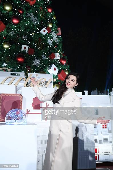 Actress Fan Bingbing attends a commercial activity of Cartier at Henglong Square on December 1 2016 in Shanghai China