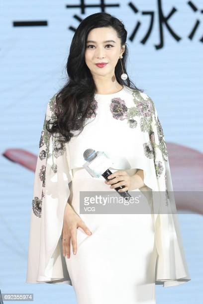 Actress Fan Bingbing attends a commercial event on June 4 2017 in Beijing China