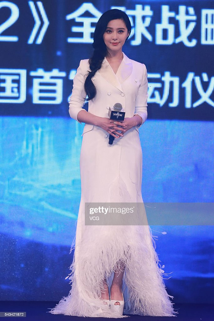 Actress Fan Bingbing attends a game activity of 'Dawn After Dark' on June 28, 2016 in Beijing, China.