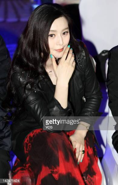 Actress Fan Bingbing attends a press conference to announce that Disney and Beijingbased DMG Entertainment will coproduce 'Iron Man 3' at Crowne...