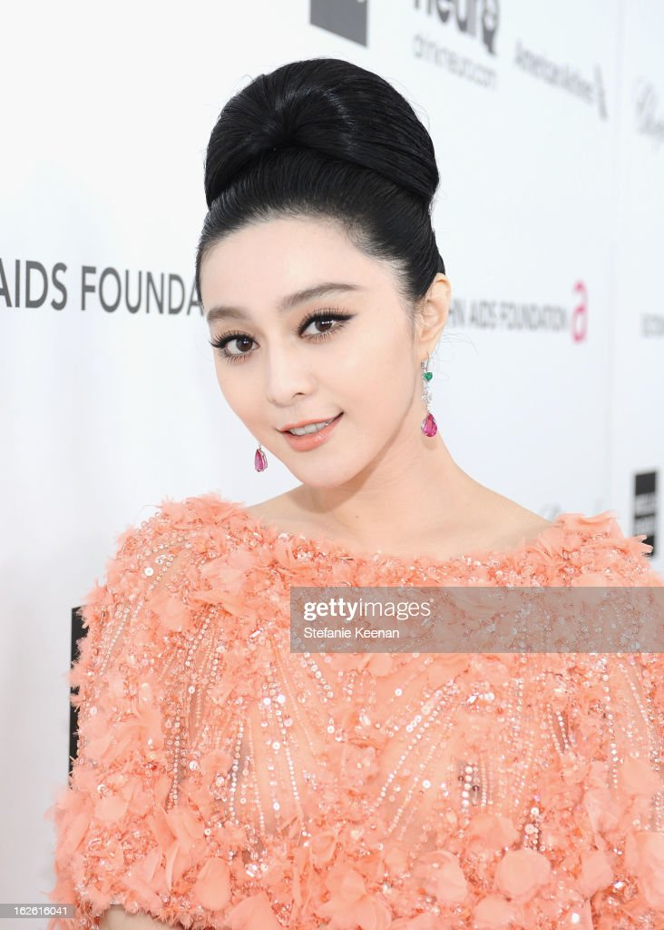 Actress Fan Bingbing attends Chopard at 21st Annual Elton John AIDS Foundation Academy Awards Viewing Party at West Hollywood Park on February 24, 2013 in West Hollywood, California.