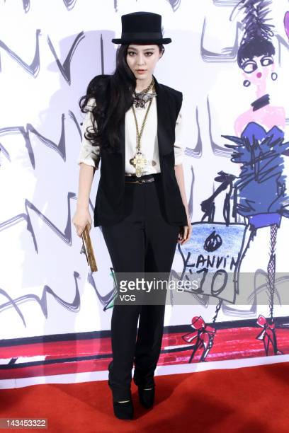 Actress Fan Bingbing attends Lanvin fashion show at Beijing Hotel on April 26 2012 in Beijing China