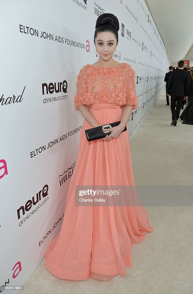 Actress Fan Bingbing attends Neuro at 21st Annual Elton John AIDS Foundation Academy Awards Viewing Party at West Hollywood Park on February 24, 2013 in West Hollywood, California.