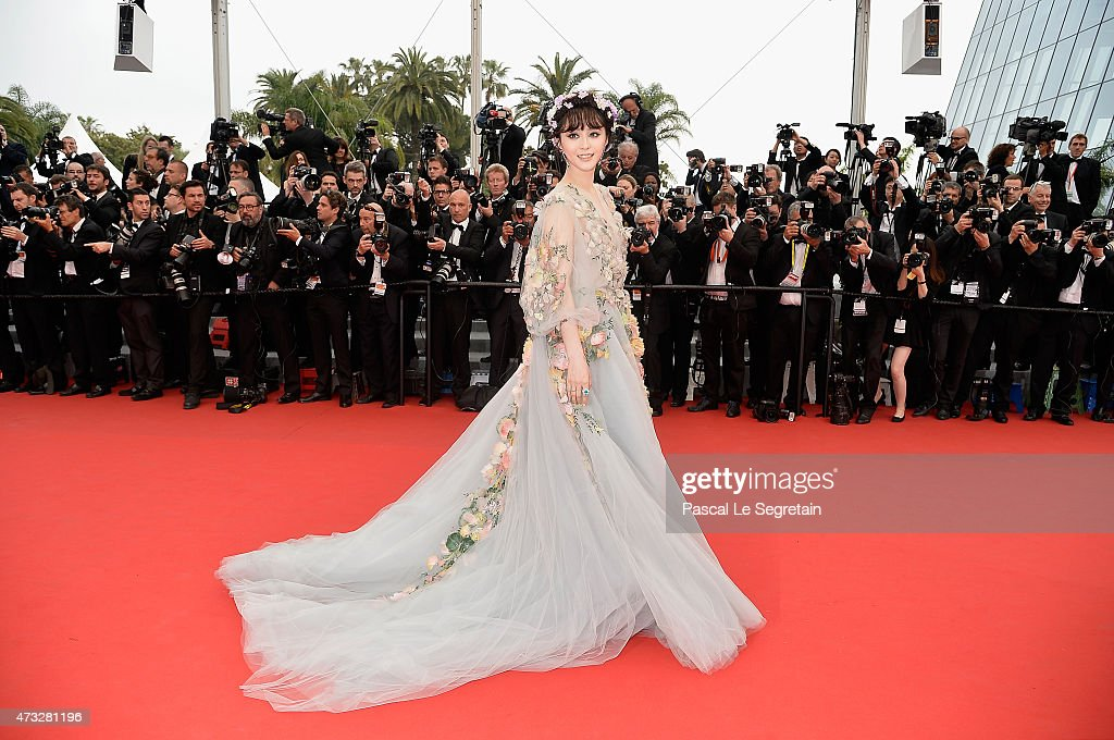 Actress Fan Bingbing attends Premiere of 'Mad Max Fury Road' during the 68th annual Cannes Film Festival on May 14 2015 in Cannes France