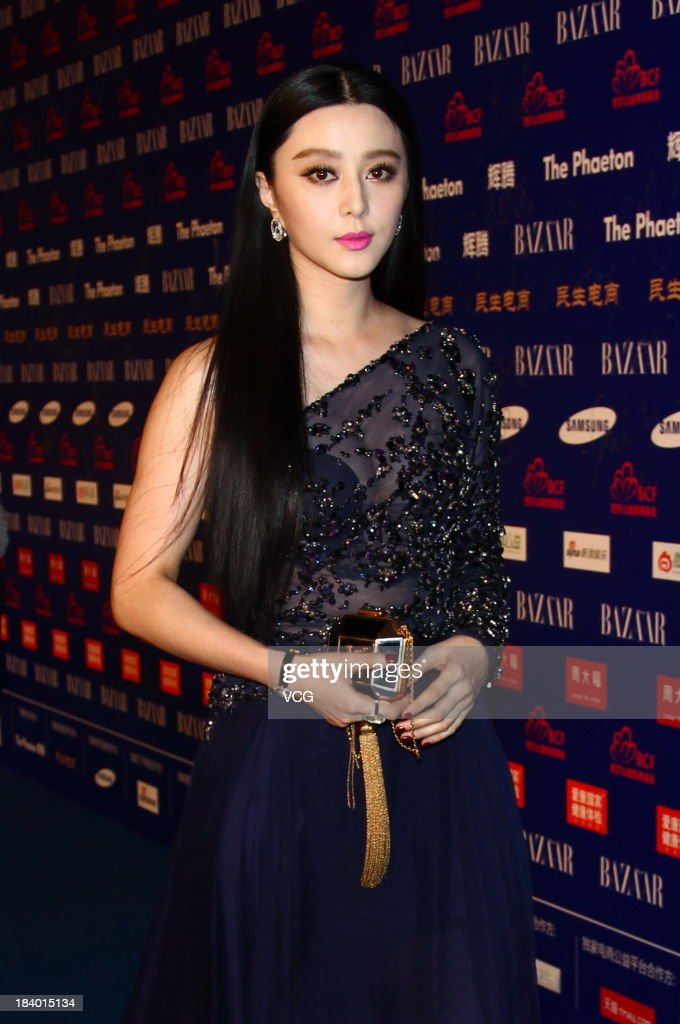 Actress Fan Bingbing attends the 2013 Bazaar Stars Charity Night at China World Summit Wing on October 10, 2013 in Beijing, China.