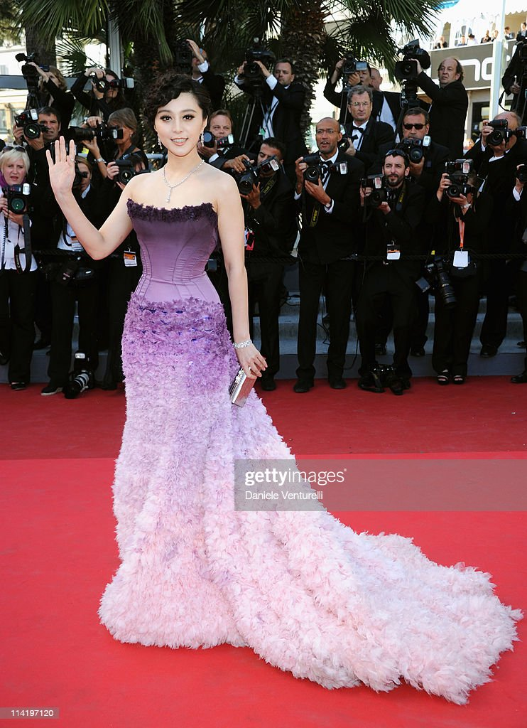 Actress Fan Bingbing attends 'The Artist' Premiere at the Palais des Festivals during the 64th Cannes Film Festival on May 15, 2011 in Cannes, France.