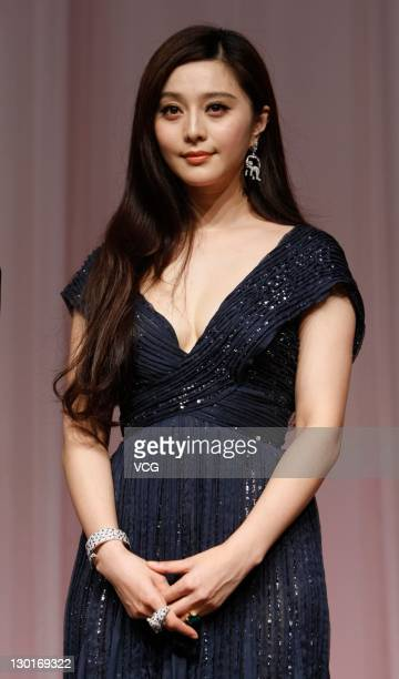 Actress Fan Bingbing attends the Chinese Film Week gala dinner during the 24th Tokyo International Film Festival at Prince Park Tower on October 23...