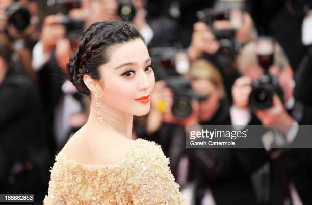 Actress Fan Bingbing attends the 'Jeune Jolie' premiere during The 66th Annual Cannes Film Festival at the Palais des Festivals on May 16 2013 in...