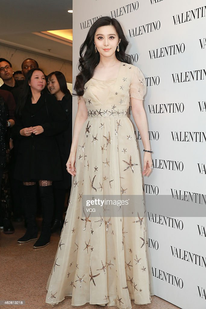 Actress Fan Bingbing attends the opening activity of Valentino flagship store on February 5 2015 in Hongkong China