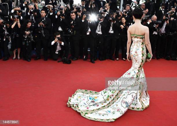 Actress Fan Bingbing attends the Opening Ceremony and 'Moonrise Kingdom' Premiere during the 65th Annual Cannes Film Festival at the Palais des...