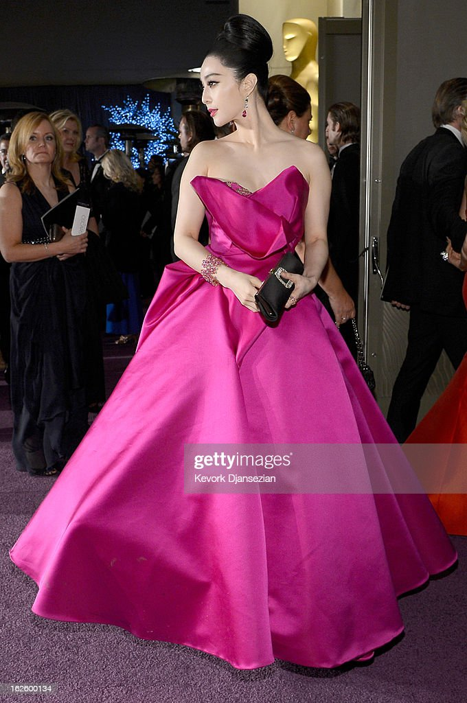 Actress Fan Bingbing attends the Oscars Governors Ball at Hollywood & Highland Center on February 24, 2013 in Hollywood, California.