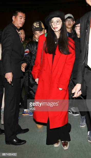 Actress Fan Bingbing attends the premiere of director Feng Xiaogang's film 'Youth' on December 6 2017 in Beijing China