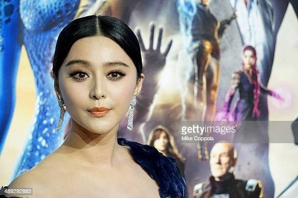 Actress Fan Bingbing attends the 'XMen Days Of Future Past' world premiere at Jacob Javits Center on May 10 2014 in New York City