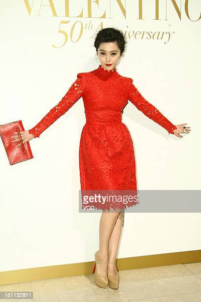 Actress Fan Bingbing attends Valentino 50th Anniversary Party at the International Finance Centre on August 31 2012 in Hong Kong Hong Kong
