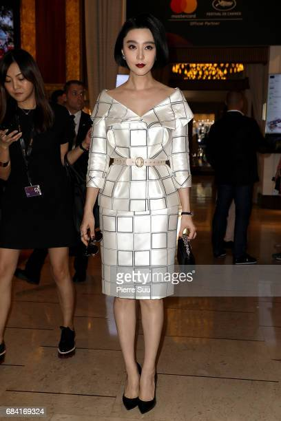 Actress Fan Bingbing is spotted at the 'Majestic' hotel during the 70th annual Cannes Film Festival at on May 17 2017 in Cannes France