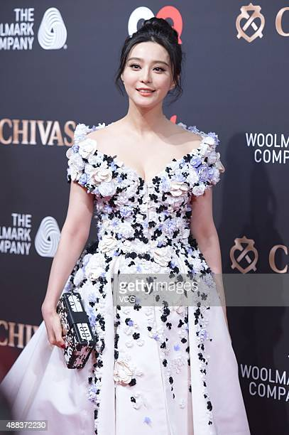 Actress Fan Bingbing poses on the red carpet of 2015 GQ Men Of The Year on September 15 2015 in Shanghai China