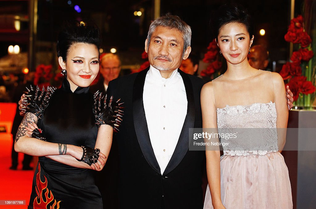 Actress Fan Hsiao Shuan, Kwai Lun Mei and director Hark Tsui attend the 'Flying Swords Of Dragon Gate' Premiere during day nine of the 62nd Berlin International Film Festival at the Berlinale Palast on February 17, 2012 in Berlin, Germany.