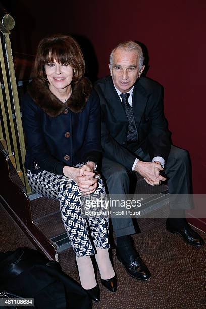 Actress Fanny Ardant and producer Alain Terzian attend the 'Chic ' Paris Premiere at Gaumont Marignan Cinema on January 6 2015 in Paris France