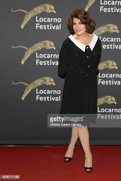 Actress Fanny Ardant attends a red carpet during the 70th Locarno Film Festival on August 3 2017 in Locarno Switzerland