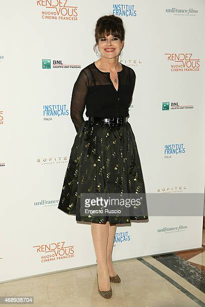 Actress Fanny Ardant attends the '5th Rendezvous' French Film Festival Opening Ceremony at Sofitel Hotel on April 8 2015 in Rome Italy
