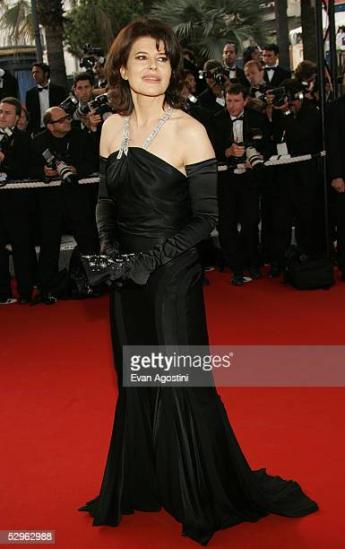 Actress Fanny Ardant attends the Closing Ceremony and premiere of 'Chromophobia' at the Palais during the 58th International Cannes Film Festival May...