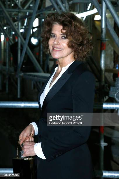 Actress Fanny Ardant attends the Saint Laurent show as part of the Paris Fashion Week Womenswear Fall/Winter 2017/2018 on February 28 2017 in Paris...