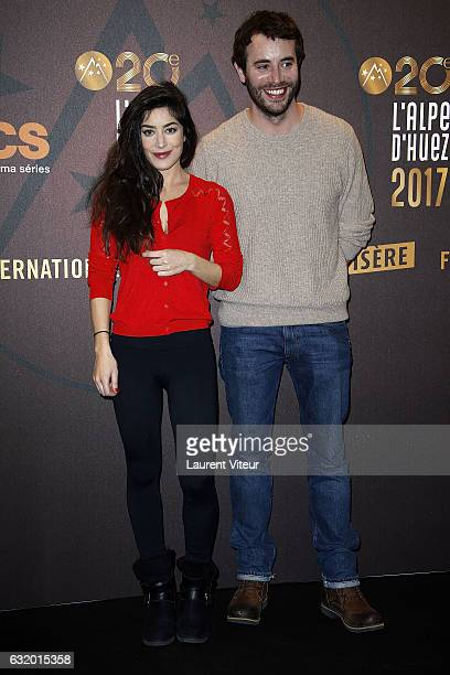 Actress Fanny Valette and Actor Yaniss Lespert attend 'L'Ascension' Photocall during tne 20th L'Alpe D'Huez International Film Festival on January 18...